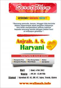 Undangan Pernikahan Online Anjrah Haryani gaya WSO indonesia
